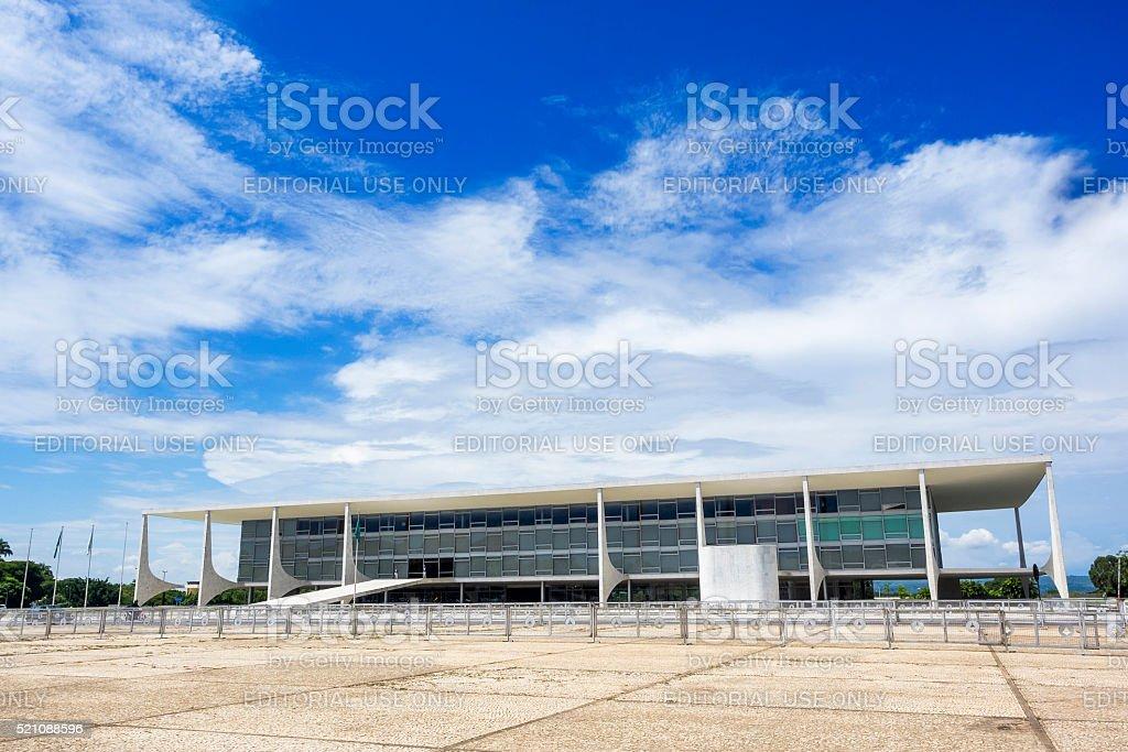 Planalto Palace in Brasilia, Brazil stock photo