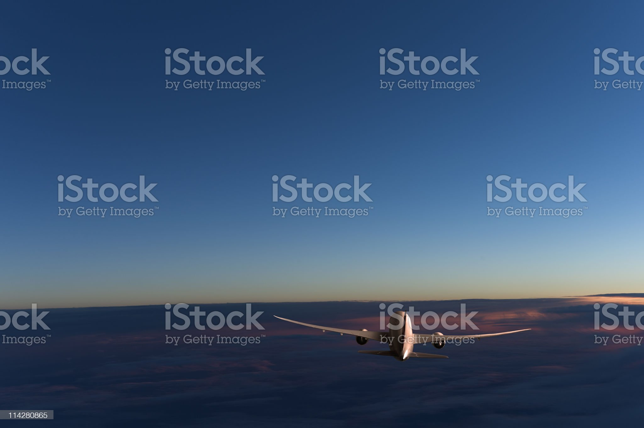 Plane above the clouds. royalty-free stock photo