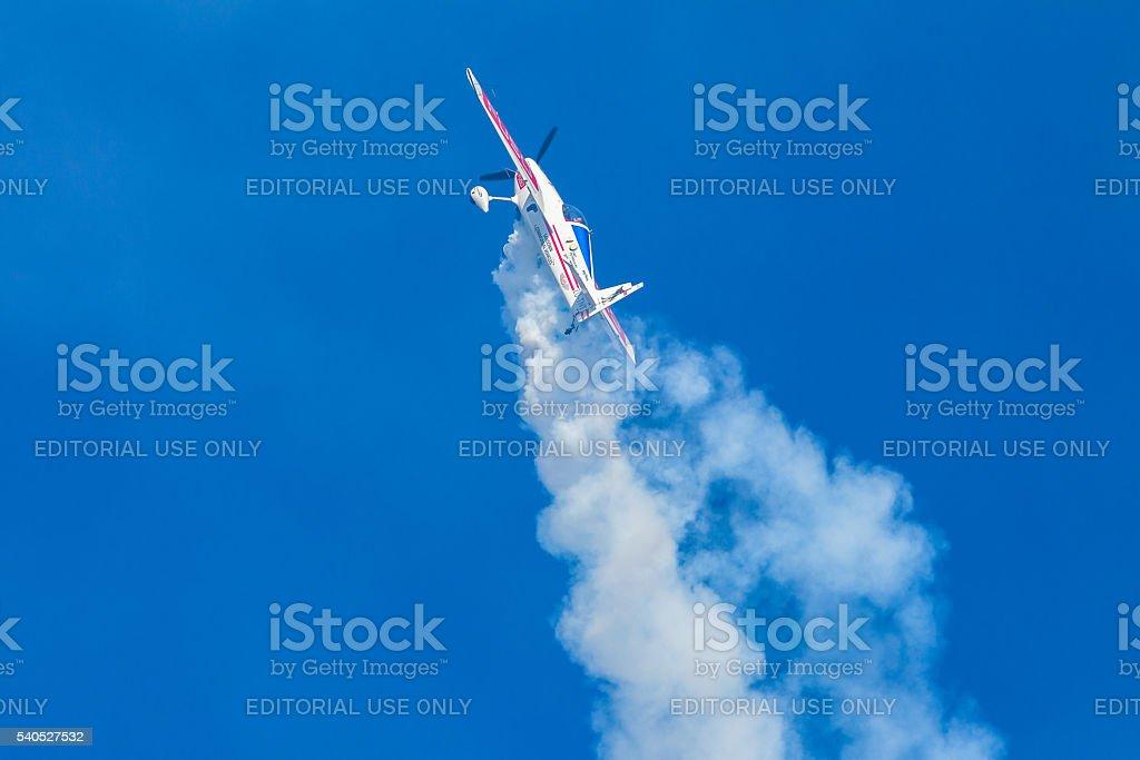 Plane Acrobatic Flying stock photo