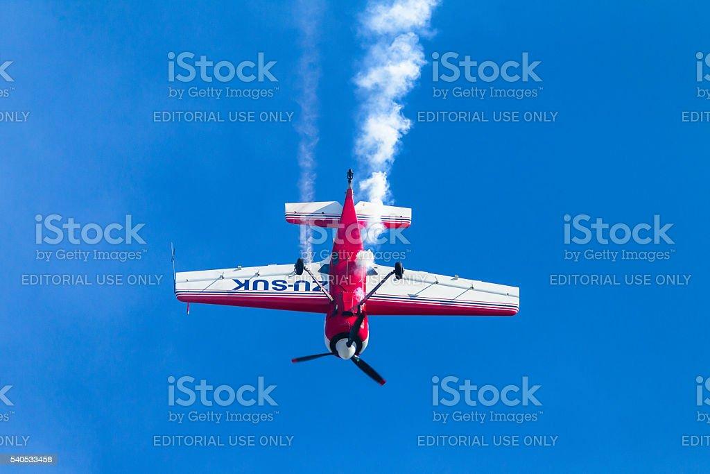 Plane Acrobatics Flying stock photo