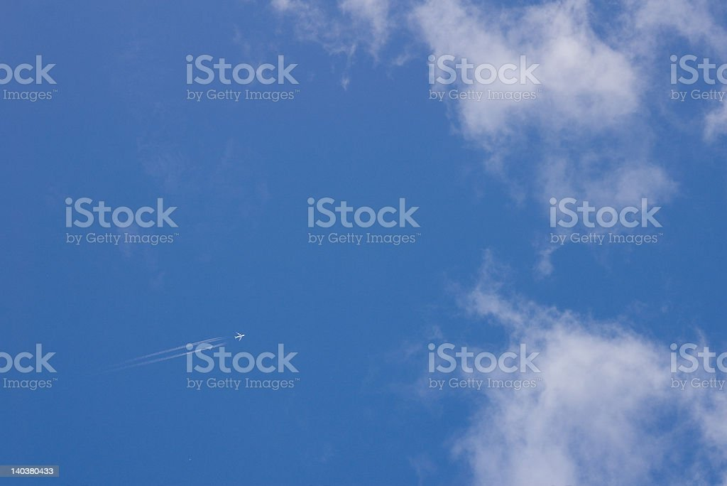 Plane and sky royalty-free stock photo