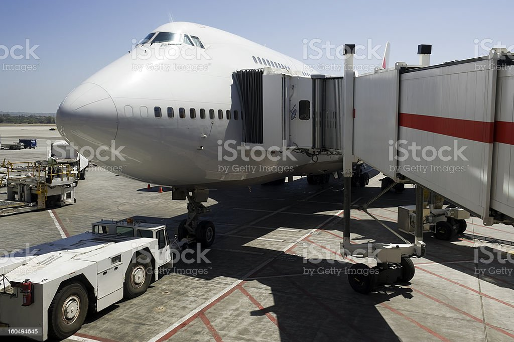 Plane at Airport royalty-free stock photo