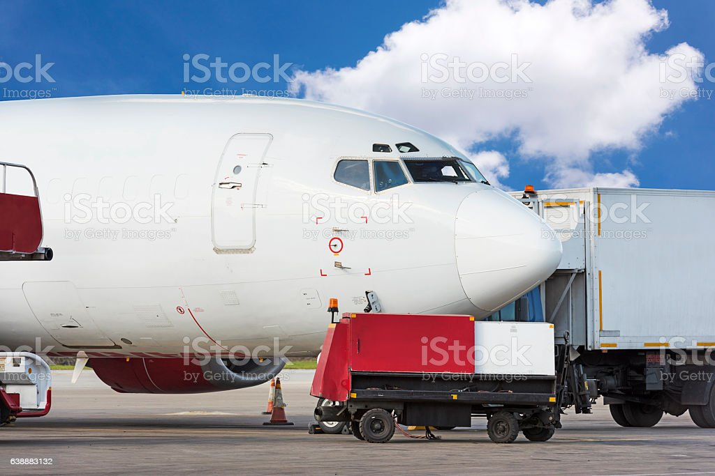 Plane at Airport stock photo
