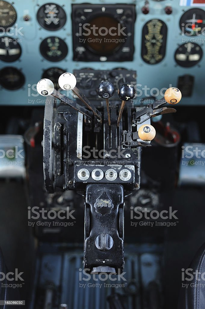 plane cockpit royalty-free stock photo