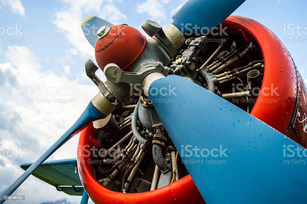 Plane Engine stock photo