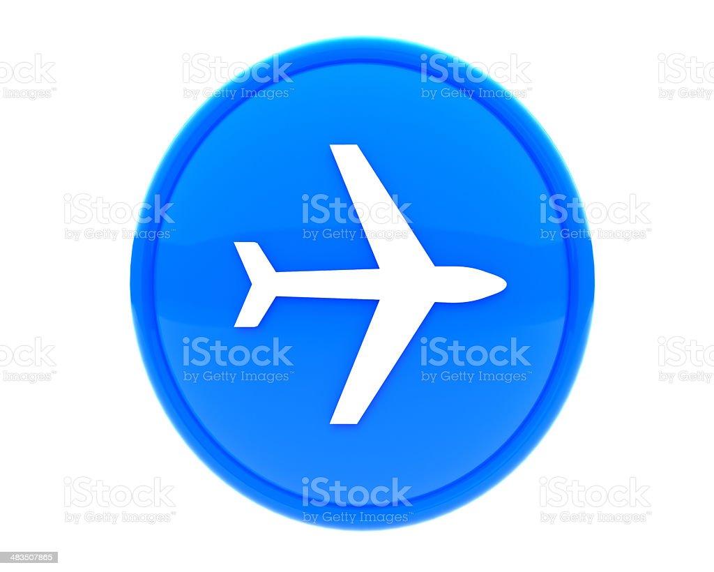 plane icon stock photo