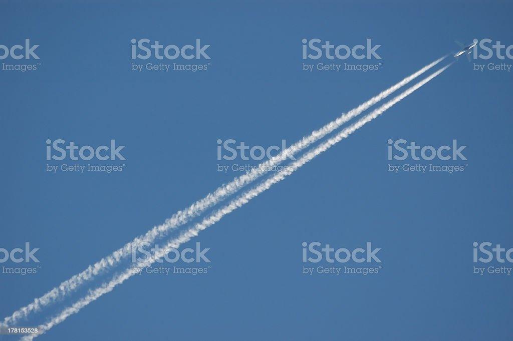 plane in flight royalty-free stock photo