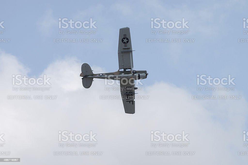 USAF Plane in Flight royalty-free stock photo