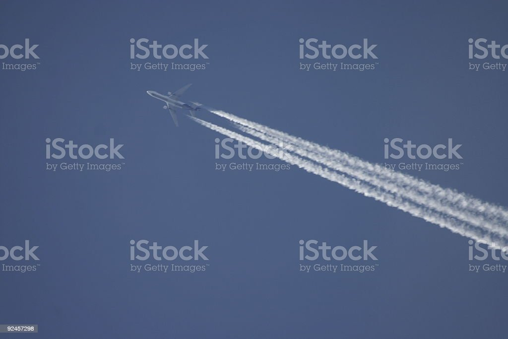 Plane in the sky stock photo