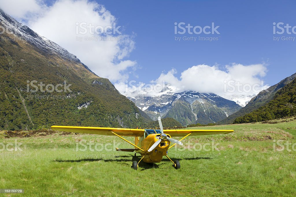 Plane in the Valley royalty-free stock photo