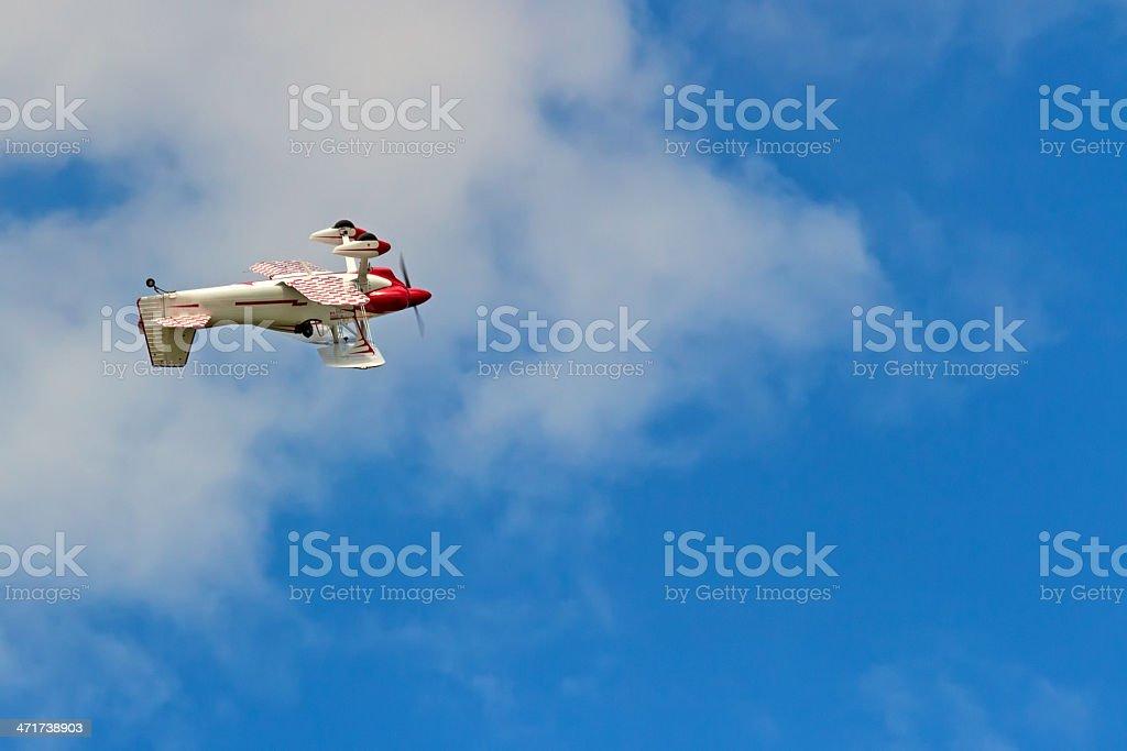 RC plane model in flight royalty-free stock photo
