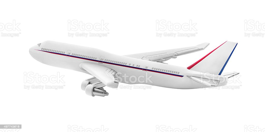 Plane model isolated stock photo