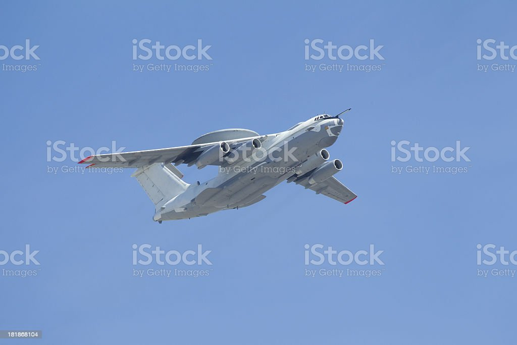 plane on a blue background sky royalty-free stock photo