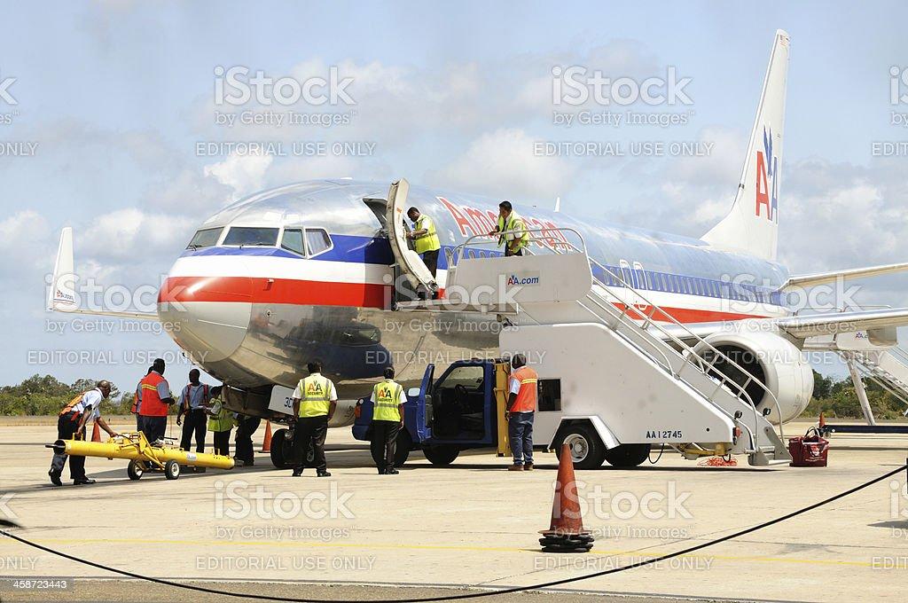 Plane on tarmac royalty-free stock photo