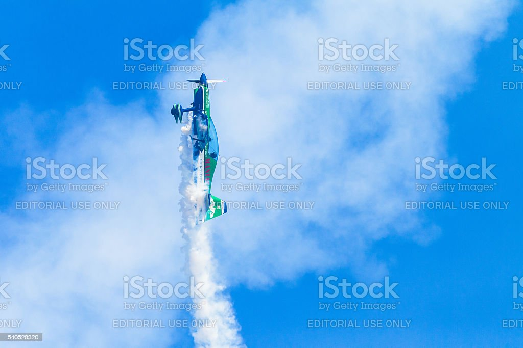 Plane Pilot Acrobatic Flying stock photo