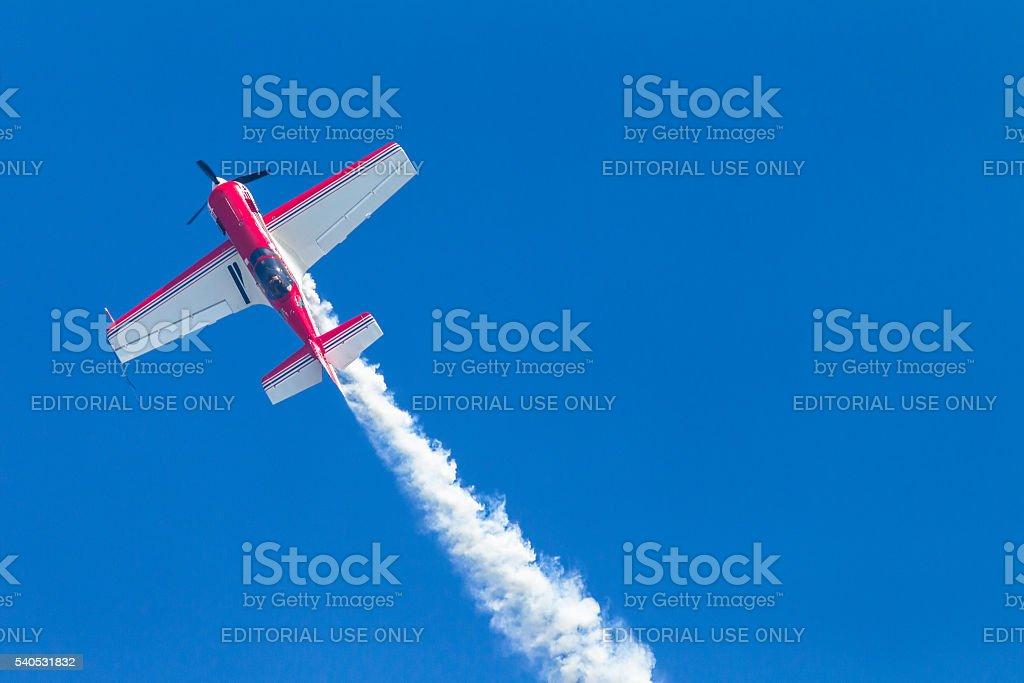 Plane Pilot Acrobatics Flying stock photo
