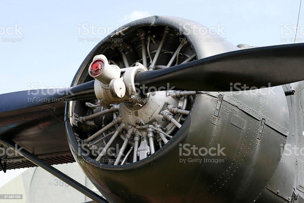 Plane Propeller Details royalty-free stock photo