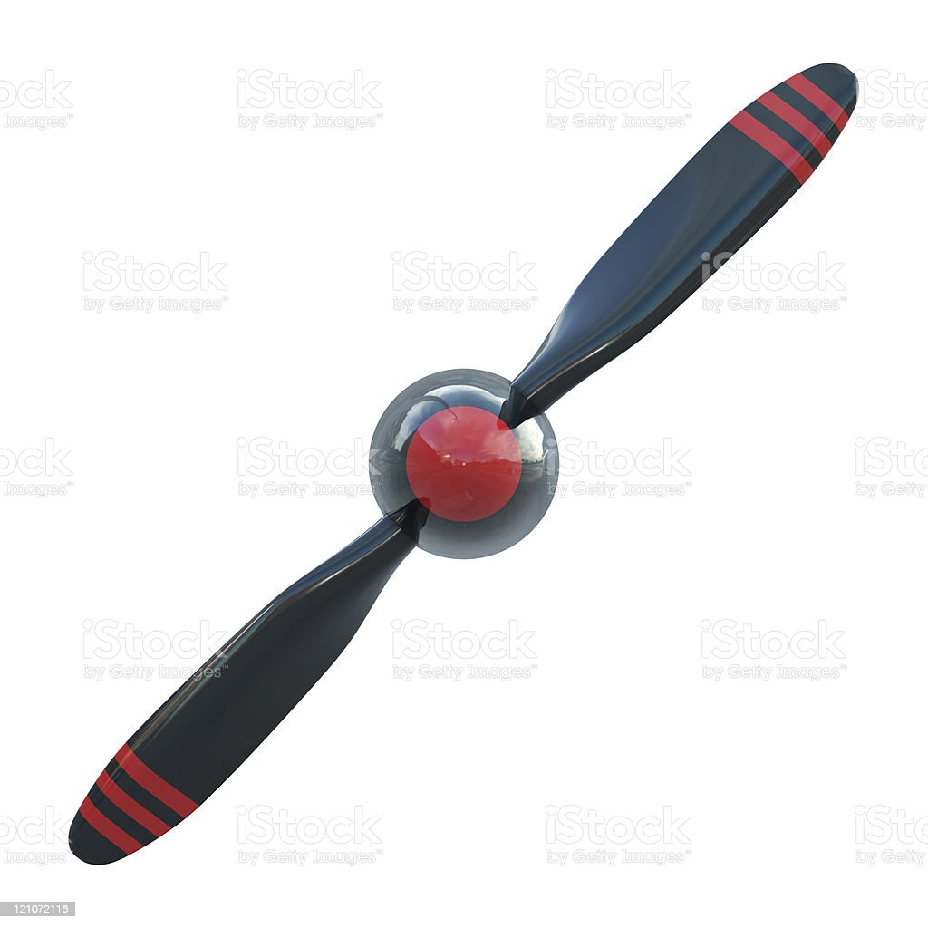 Plane propeller with 2 blades stock photo