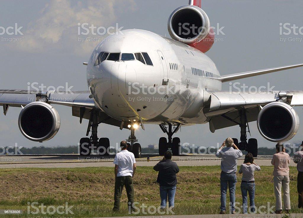 Plane spotting stock photo