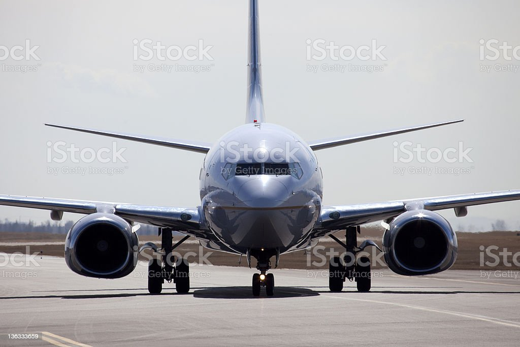 Plane Taxiing stock photo