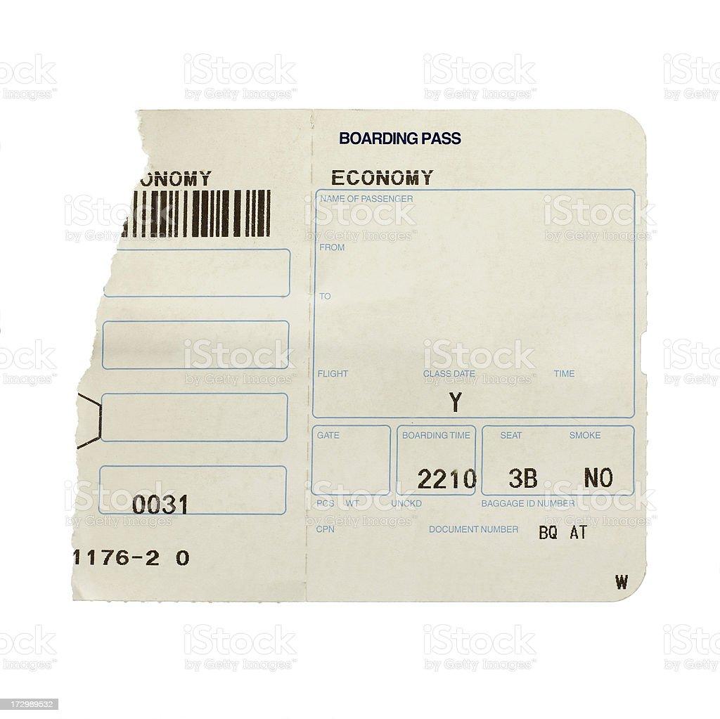 Plane ticket royalty-free stock photo