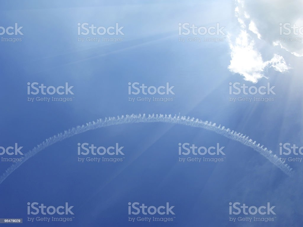 Plane track royalty-free stock photo