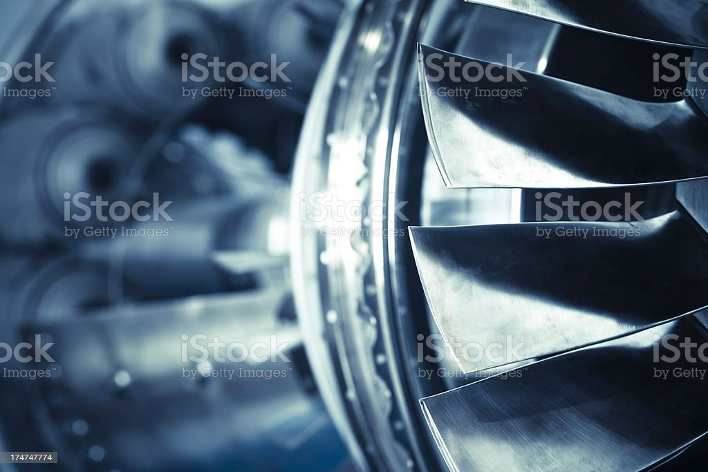 plane turbine stock photo