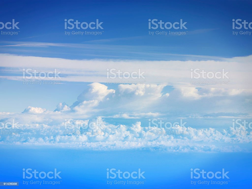 Plane view, Clouds royalty-free stock photo