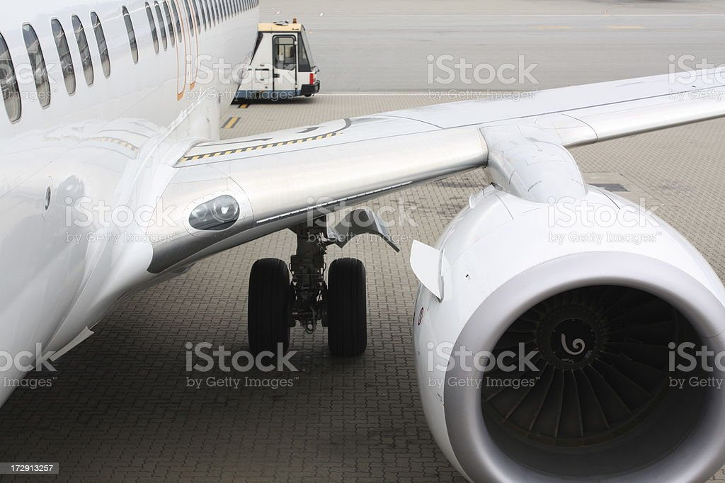 Plane Wing royalty-free stock photo