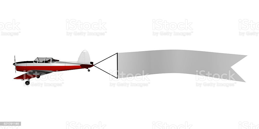 Plane with banner stock photo