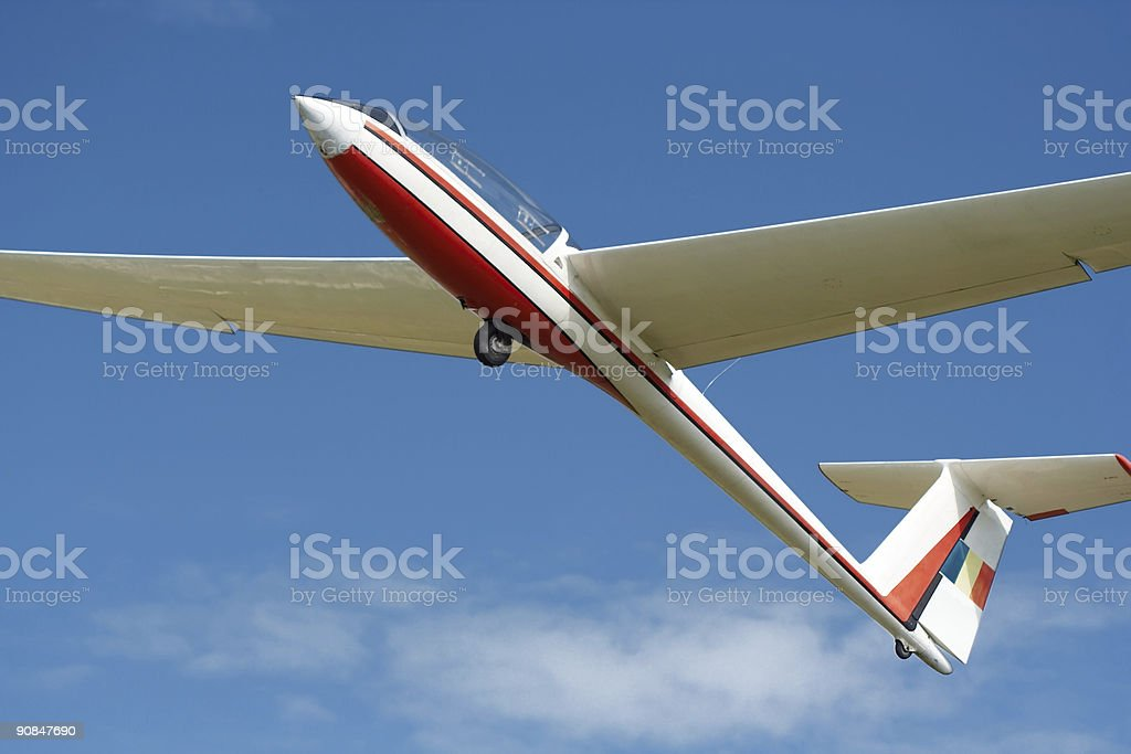 Plane with no engine royalty-free stock photo