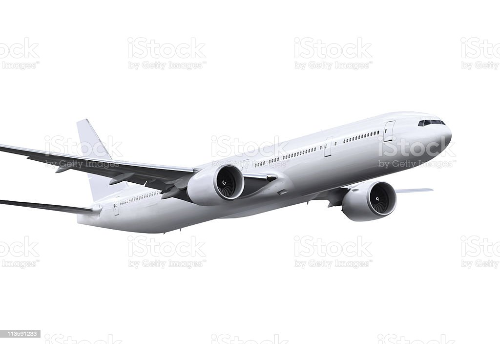 plane with path royalty-free stock photo