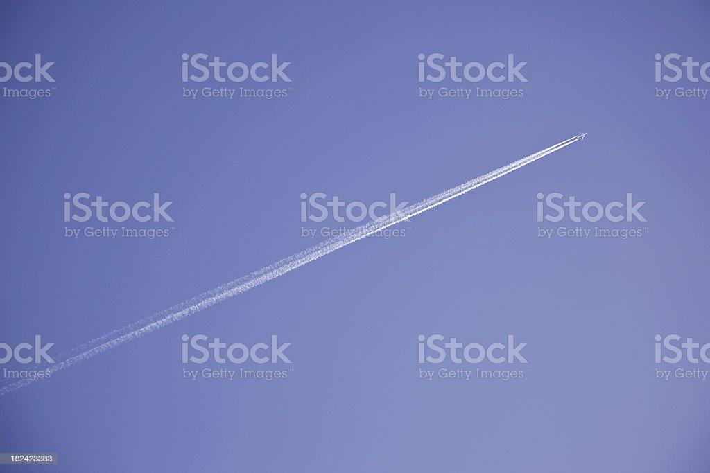 Plane with vapor stripes # 5 XXXL royalty-free stock photo