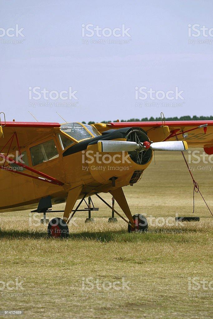 plane yellow royalty-free stock photo