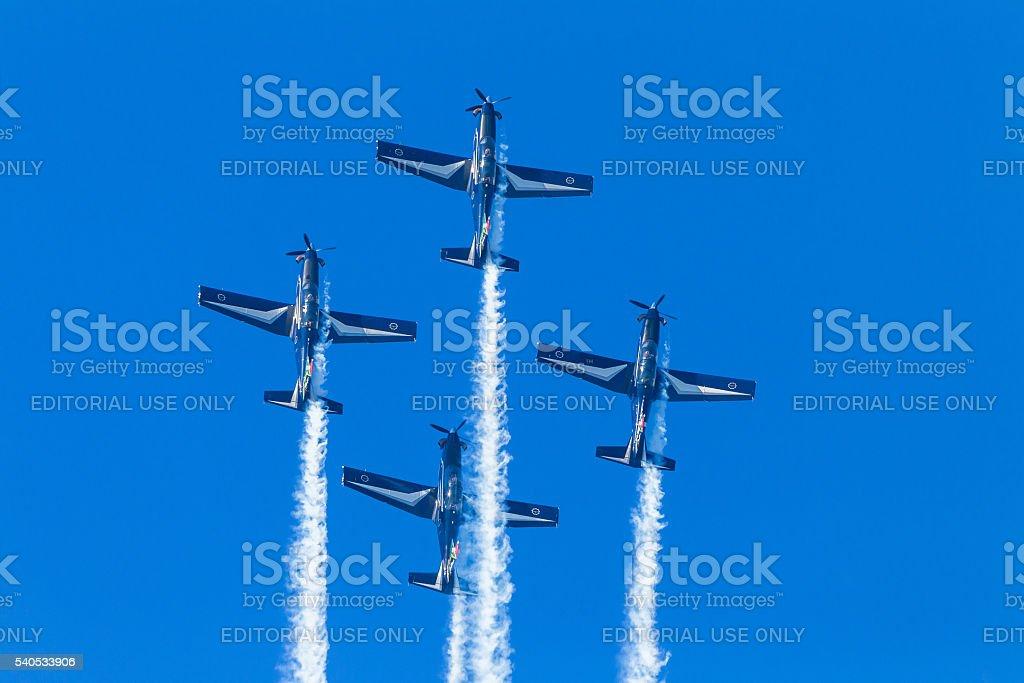 Planes Acrobatics Flying stock photo