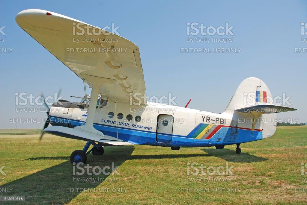 Planes on airfield, Iasi, Romania stock photo