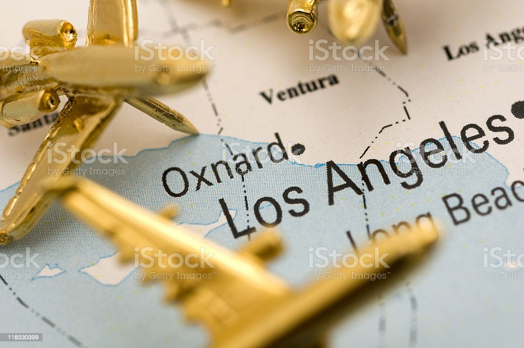 Planes Over LA royalty-free stock photo