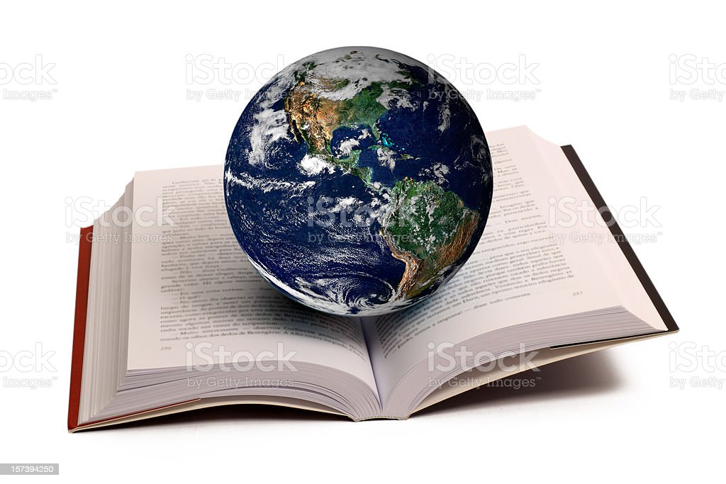 Planet and Book royalty-free stock photo