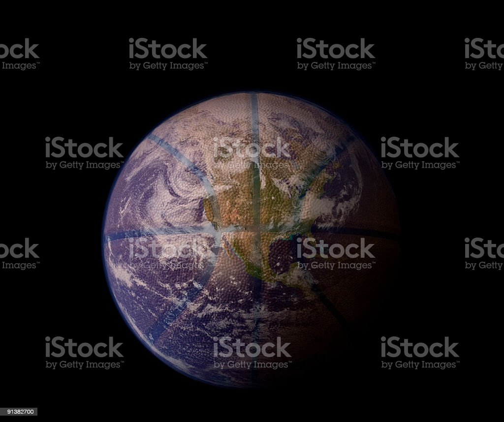 Planet Basketball - West (with clipping path) royalty-free stock photo