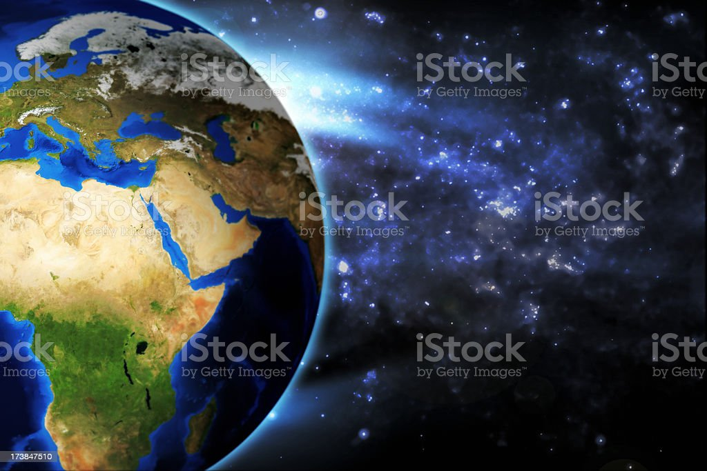 Planet Earth - Africa Arabia stock photo