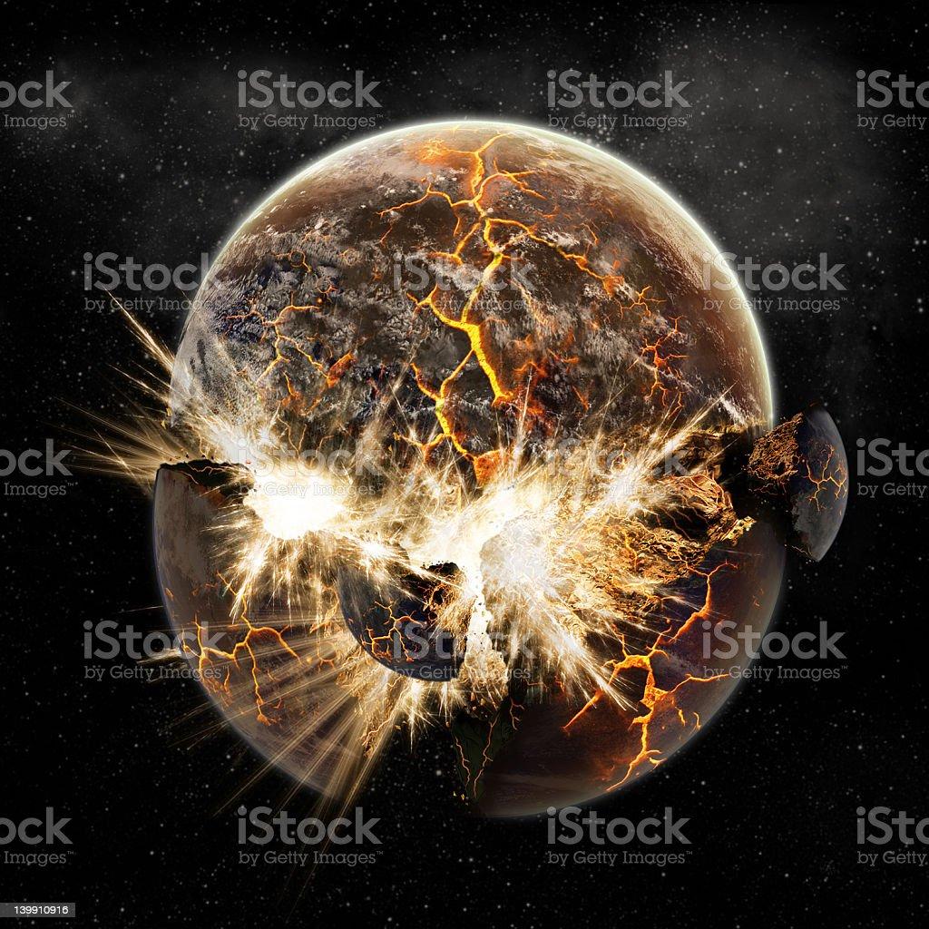 Planet earth apocalypse royalty-free stock photo