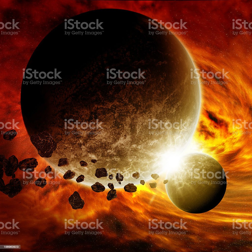Planet earth armageddon royalty-free stock photo