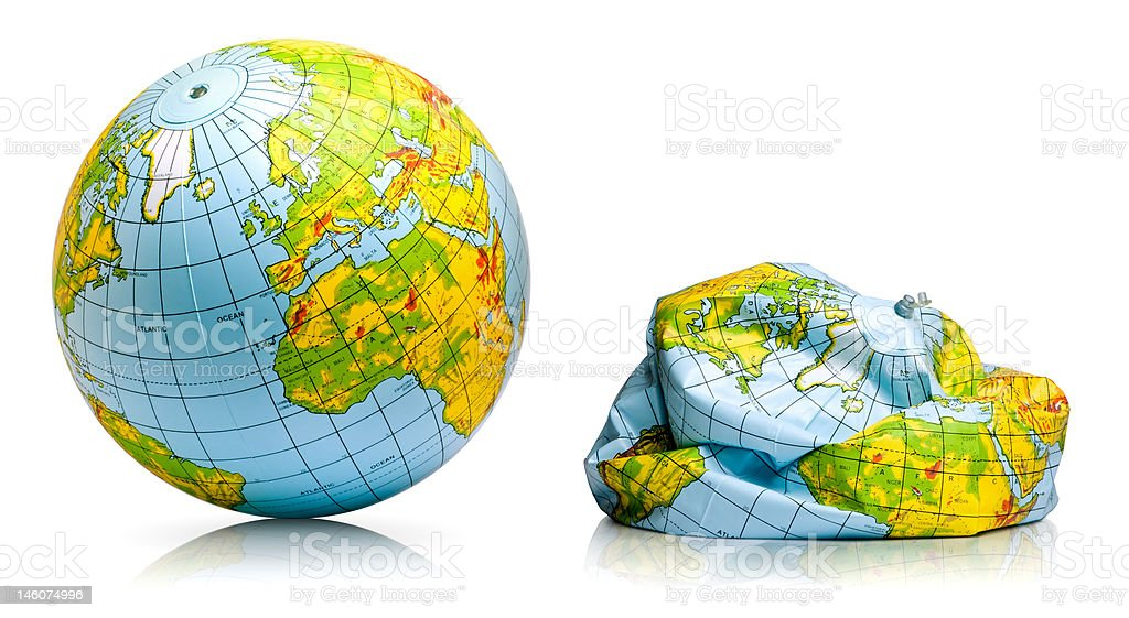 planet earth balloon royalty-free stock photo