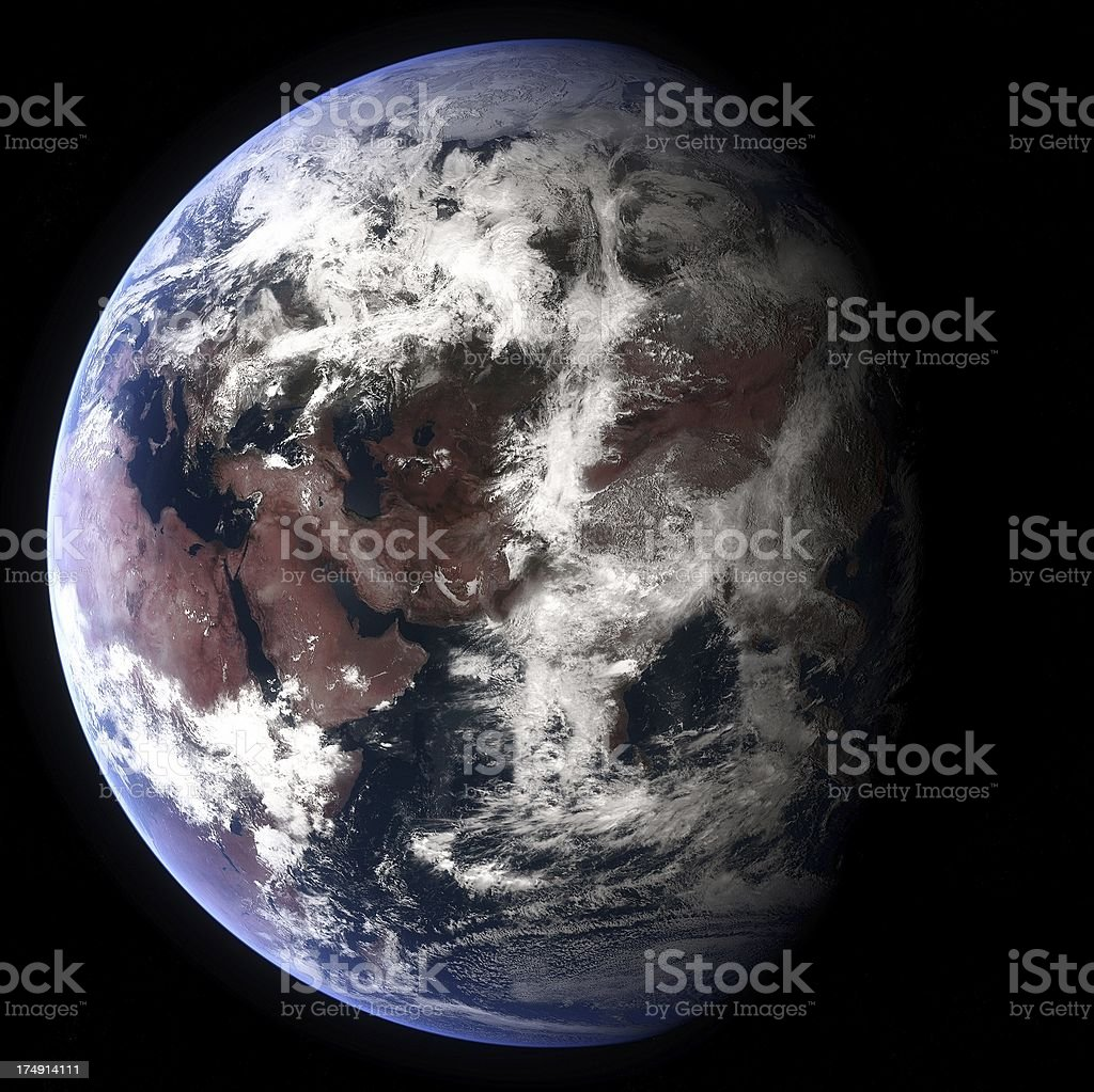 Planet Earth Globe with Eurasia visible stock photo