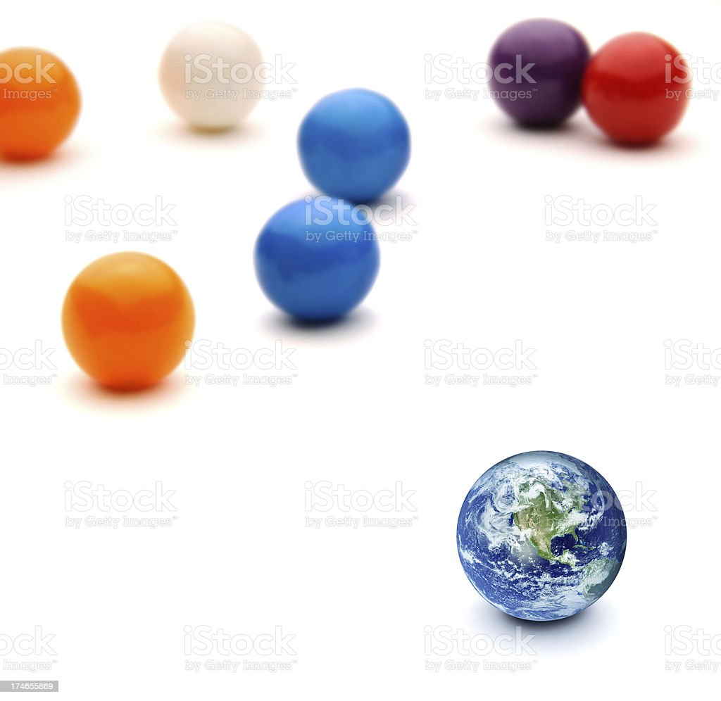Planet Earth Gum Ball royalty-free stock photo