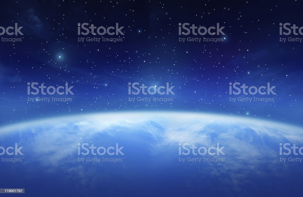 Planet Earth in the Universe stock photo