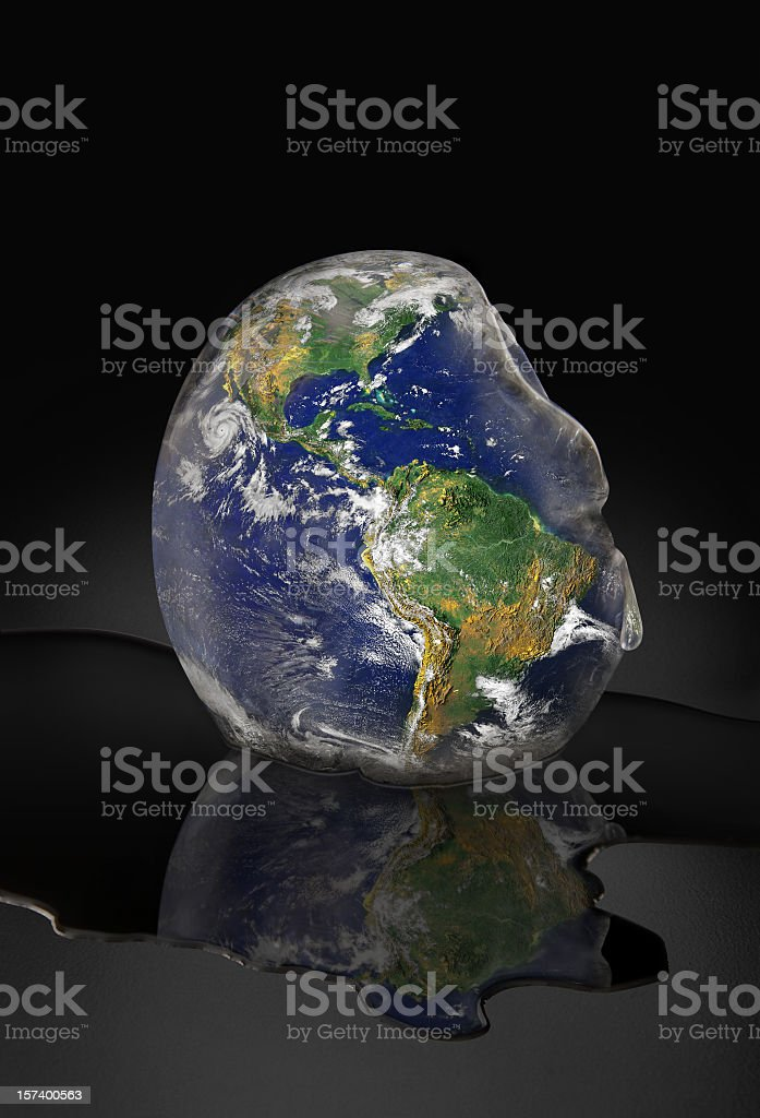 Planet Earth Melting royalty-free stock photo
