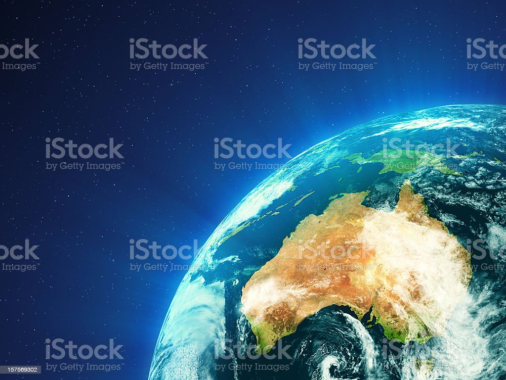 Planet Earth - Oceania royalty-free stock photo