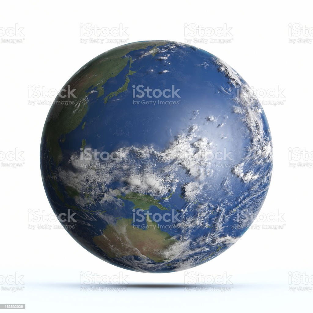 'Planet Earth Pacific Ocean, Japan, Australia' stock photo