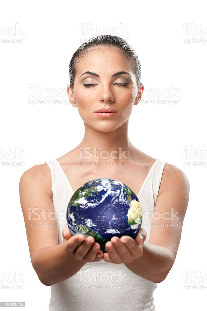 Planet earth protection royalty-free stock photo